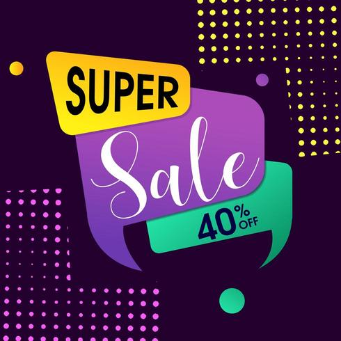 Super försäljningsdesign med halvton bakgrund vektor
