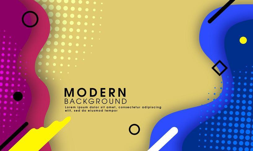 Abstrakter moderner flüssiger Fahnenhintergrund vektor