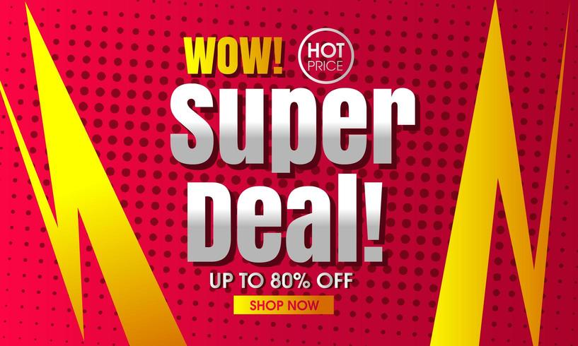 Super Deal Banner Hintergrund vektor