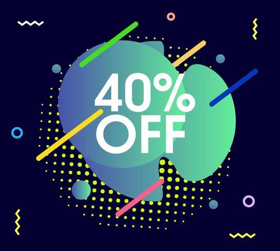 abstrakt försäljning grafik vektor