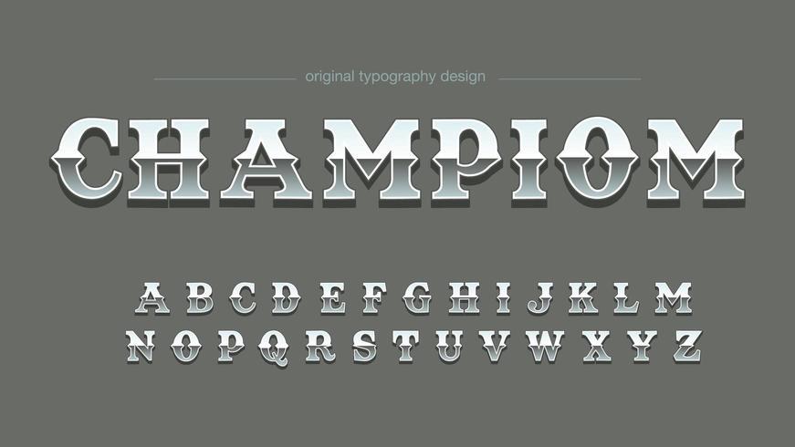 krom stål vintage konstnärlig typografi vektor