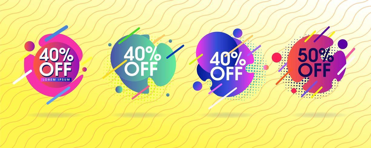 Uppsättning abstrakta försäljning taggar vektor