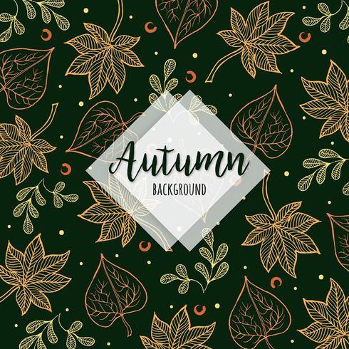 Schöner Herbst-bunte Hand gezeichnet lässt Hintergrund vektor