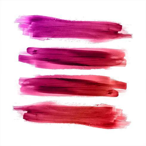 Abstrakta färgglada akvarellslagslag vektor