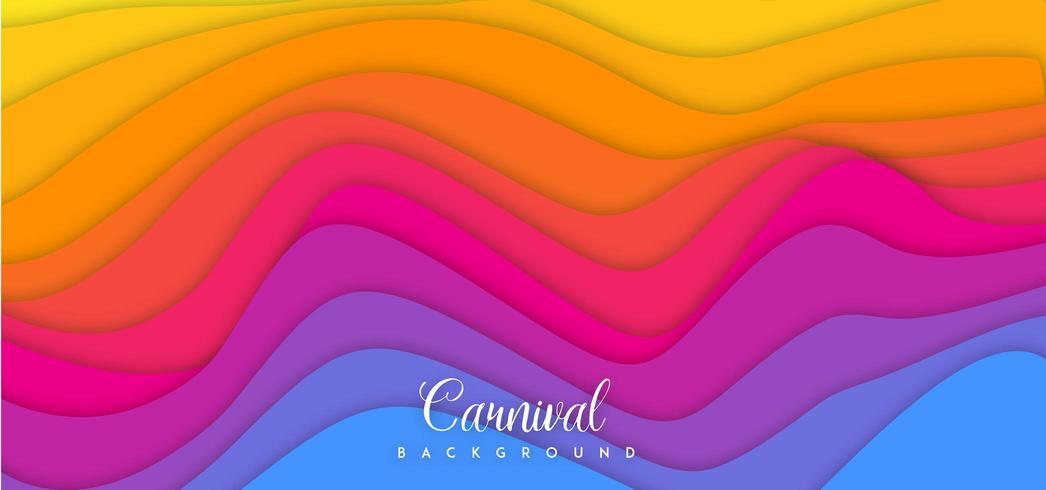 Bunter Wellen-Karnevals-Hintergrund vektor