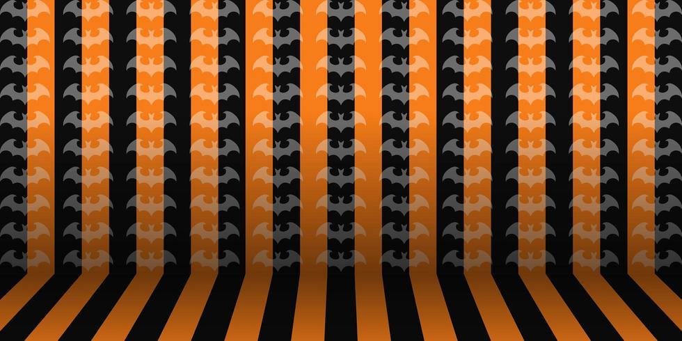 Randig bakgrund för halloween rum vektor