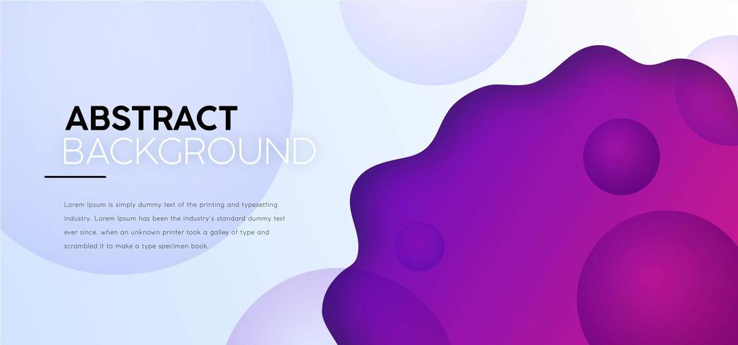 Moderner abstrakter flüssiger Hintergrund vektor