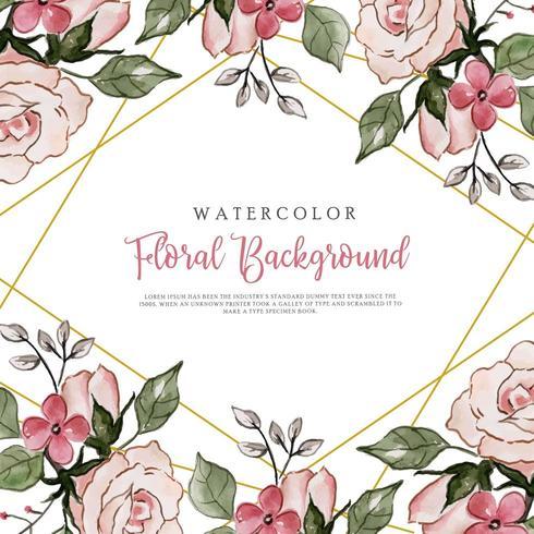 Blommig bakgrund för rosa akvarell vektor