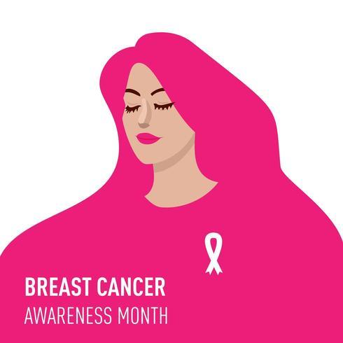 Illustration för månad för bröstcancermedvetenhet vektor