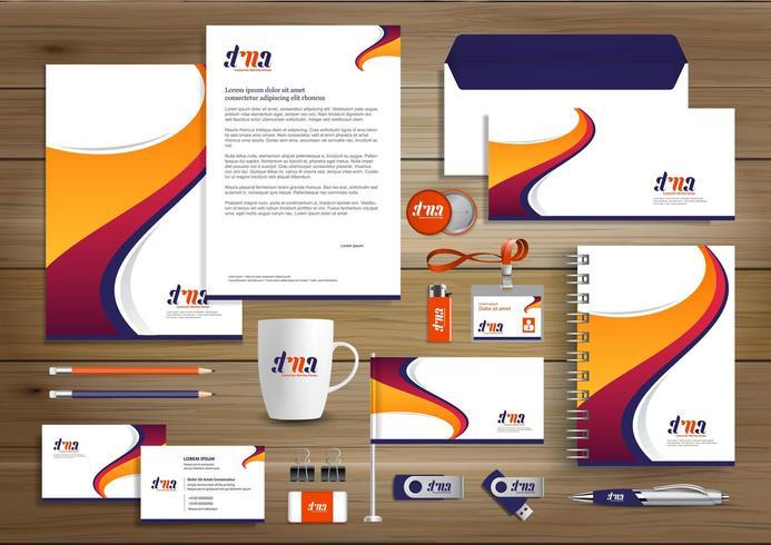 Design av företagsidentitet vektor