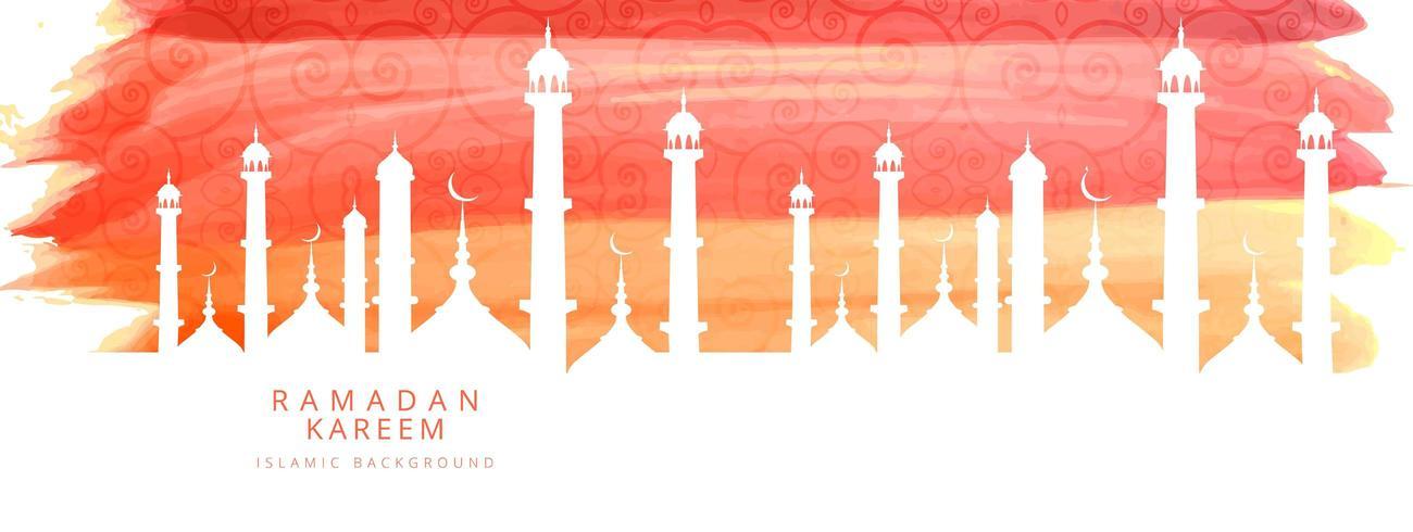Ramadan Kareem eleganta akvarell banner vektor