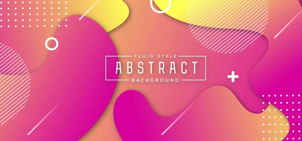 Rosa och gul abstrakt vätskebakgrund vektor
