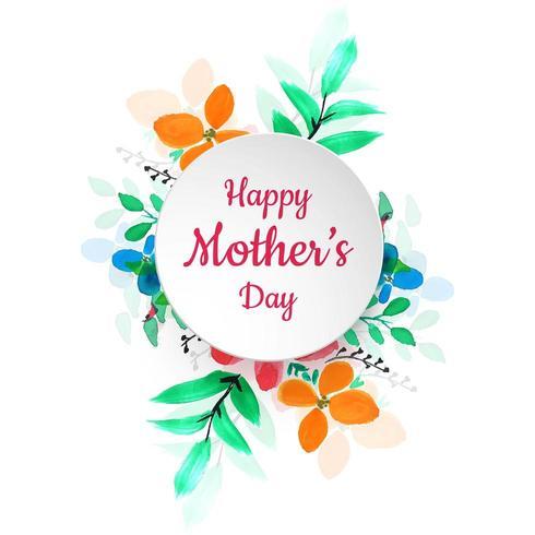 Glücklicher bunter Blumen-Hintergrund der Mutter Tages vektor
