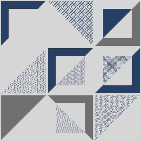 Abstrakt geometrisk mönstrad blå bakgrund vektor