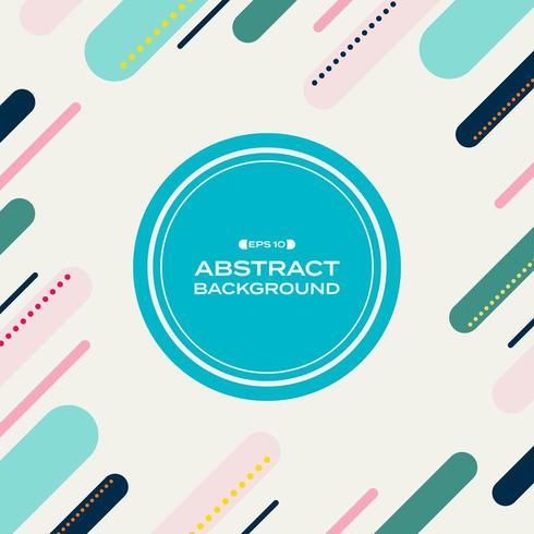 Abstraktes geometrisches Pastellmuster Memphis vektor