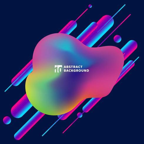 Flytande modern stil färgglada rundade diagonala former vektor