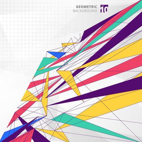 Abstrakta moderna geometriska färgglada linjer vektor