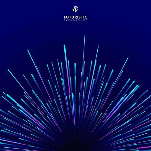 Abstrakt futuristisk geometrisk cirkulär geometrisk teknik vektor