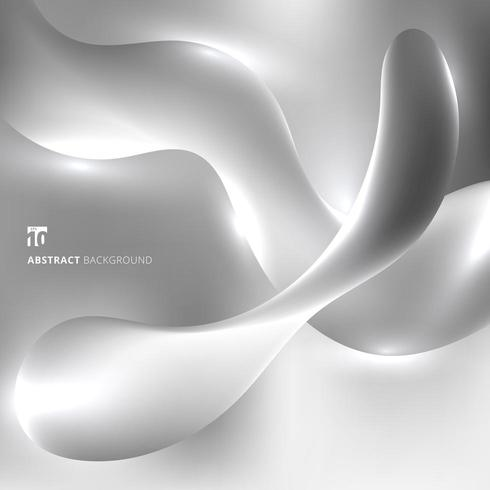 Flüssigkeit verdreht mit Lichteffekt auf grauen Hintergrund vektor