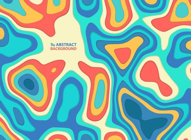 Abstraktes Papier schnitt bunte gewellte Linie und formt Muster vektor