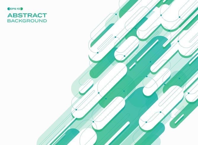 Abstrakt grön rundad form diagonala linjer mönster vektor