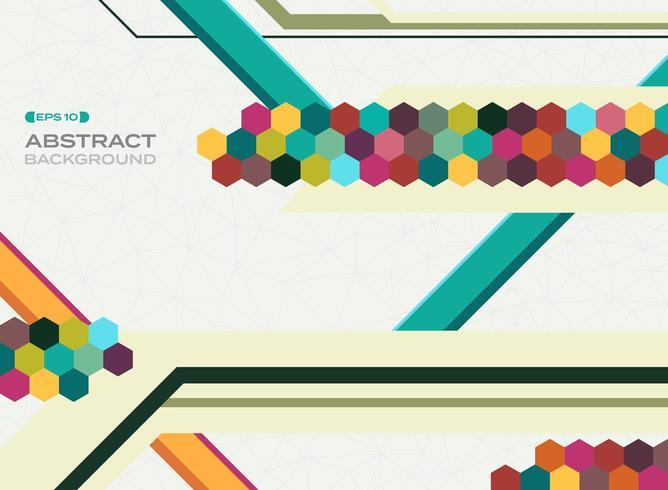 Abstrakt färgrik geometrisk mosaikformbakgrund vektor