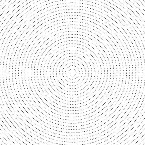 Abstraktes Radialpunktschwarz-Halbtonmuster vektor