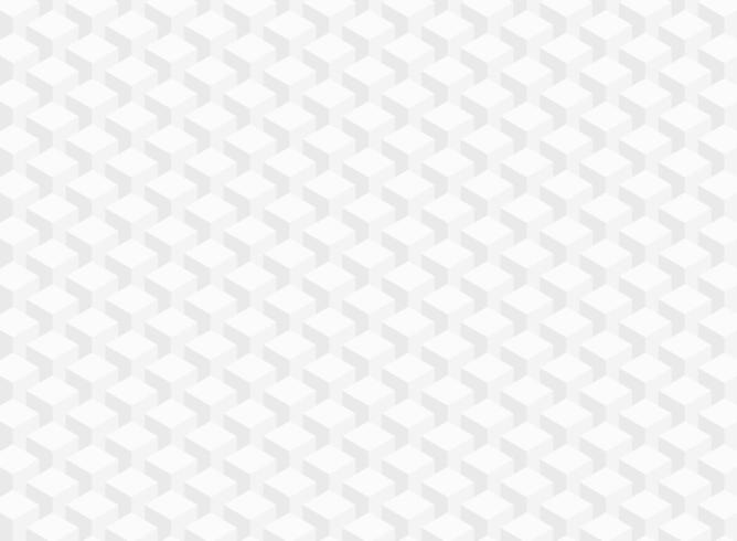 Abstrakt vitgrå geometrisk kubtextur vektor