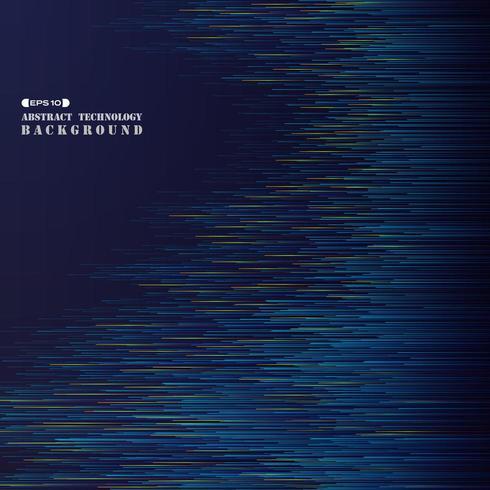 Bunte blaue Linien der abstrakten futuristischen Technologiesteigung vektor