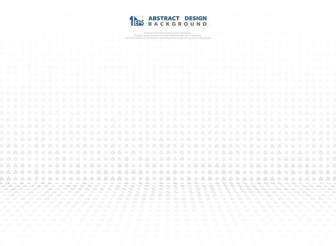 Abstraktes graues Steigungspunkttechnologie-Perspektivenmuster vektor