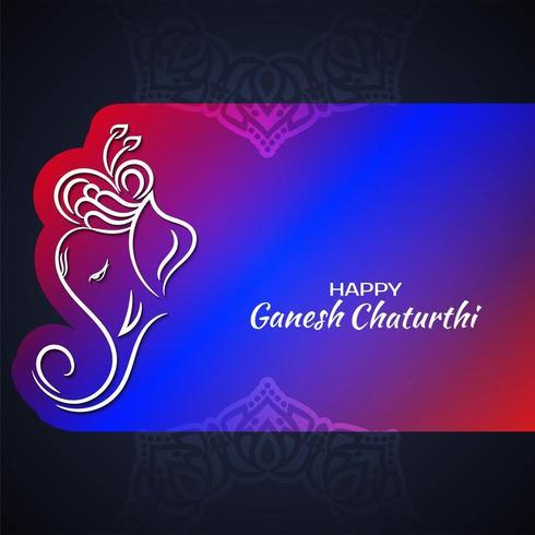 Ganesh Chaturthi ljusa färgglada dekorativa design vektor