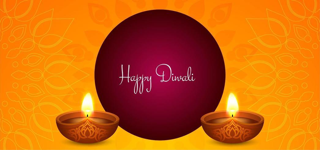 Heller einfacher Diwali-Hintergrund vektor