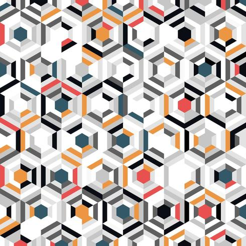 Abstraktes buntes Steigungshexagon-Mosaikmuster vektor