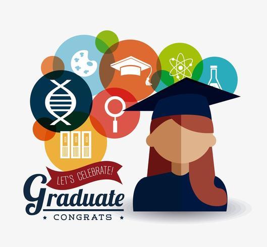 Student Graduation Design vektor