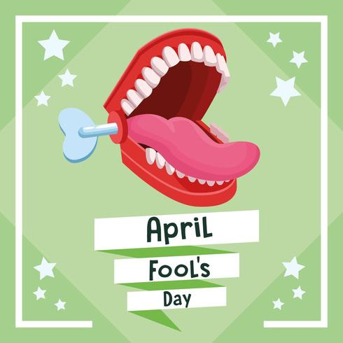 April dårar dag kort vektor