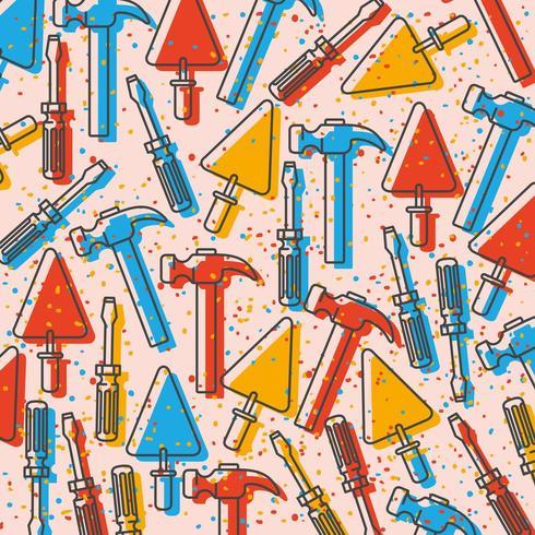 uppsättning verktyg konstruktionsmönster vektor