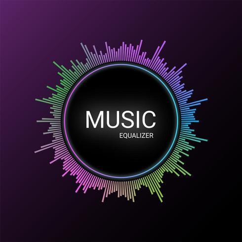 Musikutjämnar bakgrund vektor