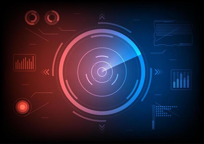Futuristic Hub för användargränssnitt vektor