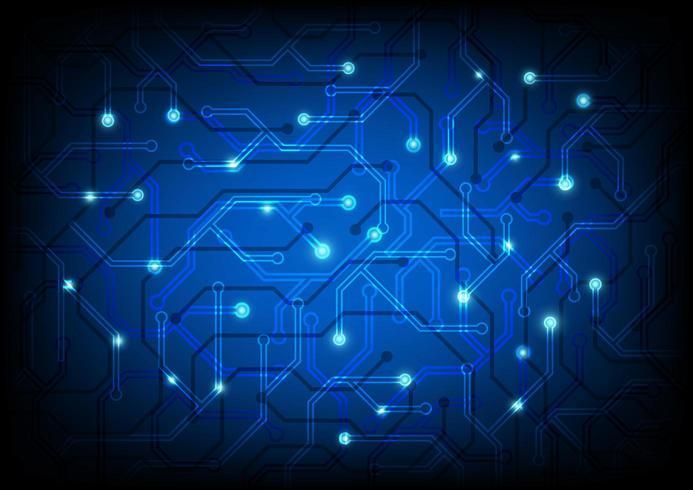 Blå kretsbrädebakgrund vektor