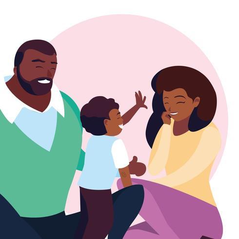 familjen avatar karaktär vektor