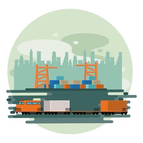 Modern transport och tågdesign vektor