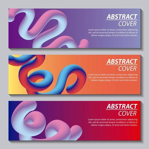 abstrakt banniervätskor vektor