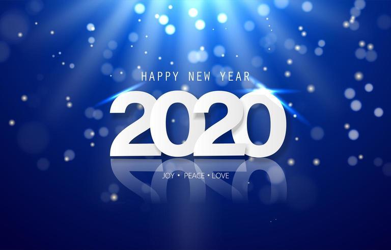 Gott nytt år 2020-banner vektor