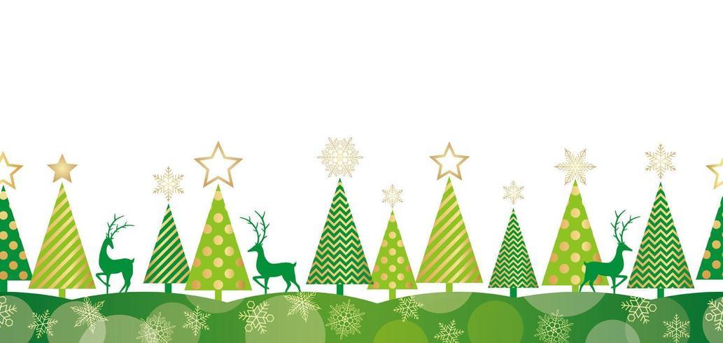 Weihnachten nahtlose Wald Hintergrund vektor