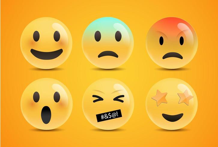 Emoji-känslande ansikten vektor
