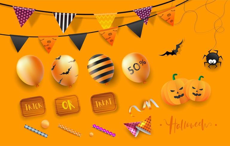 Happy Halloween Party element vektor
