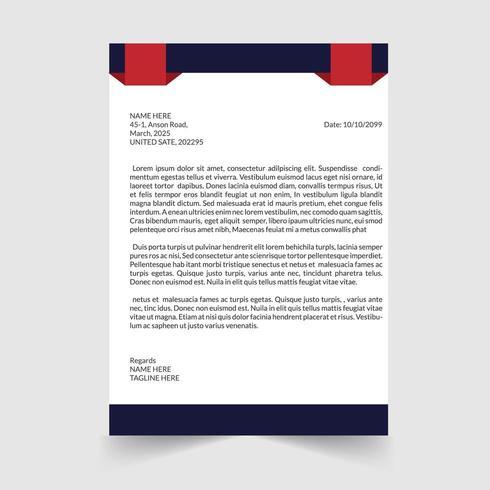 Modern och ren brevpappermall vektor