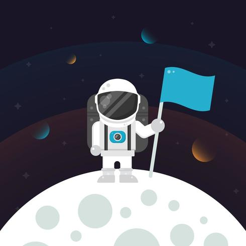 Astronaut auf dem Mond vektor
