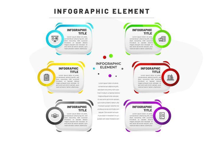 Flache Infographik Vorlage für Unternehmen vektor