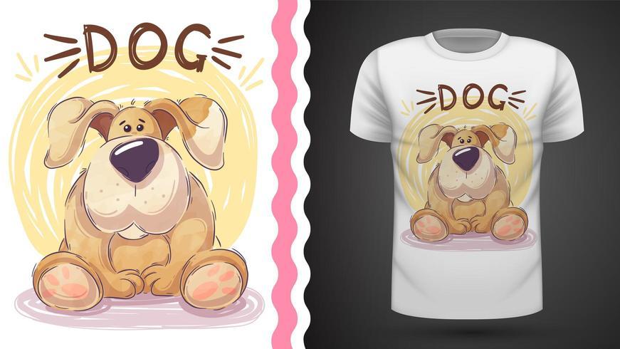 Söt stor hund - idé för tryckt-shirt vektor